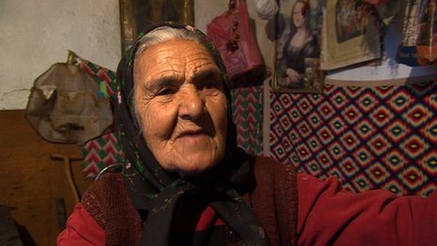 Bulgarian villager Angelina Stefanova, January 2014