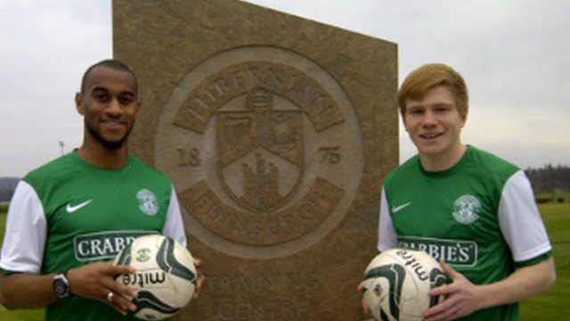 Hibernian's new loan signings Danny Haynes and Duncan Watmore