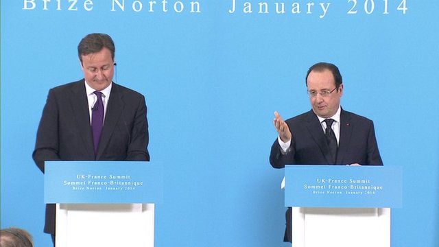 British PM, David Cameron and French President, Francois Hollande