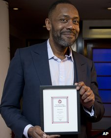 Lenny Henry with his Critics' Circle Theatre Awards