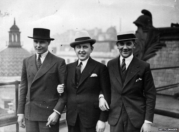 Men in suits, 1933
