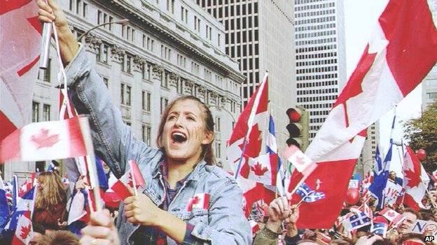 A demonstration in Canada