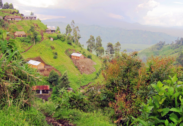 View of the hillside in Masisi