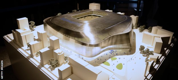 A model of the new-look Bernabeu