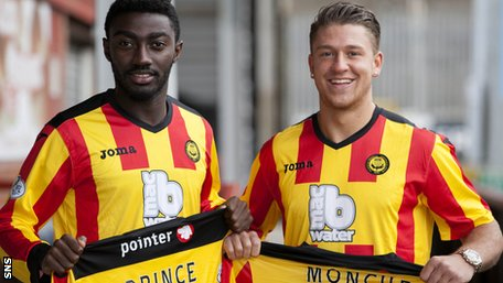 New Partick Thistle signings Prince Bauben and George Moncur