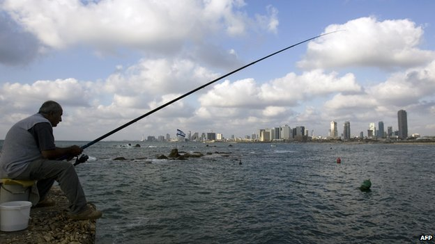 Fisherman in old port city of Jaffa (file photo