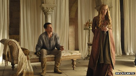 Nikolaj Coster-Waldau and Lena Headey as Jaime Lannister and Cersei Lannister