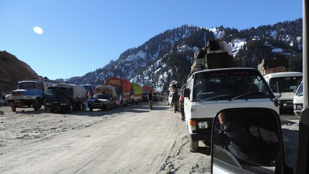 Lowari trucks parked