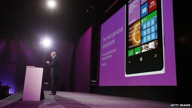 Steve Ballmer giving Windows Phone presentation