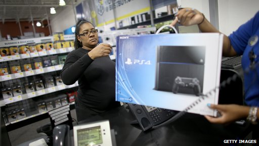 Shopper buying a PlayStation 4