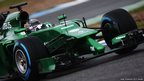 Kamui Kobayashi Caterham during day four of Formula One Winter Testing at the Circuito de Jerez
