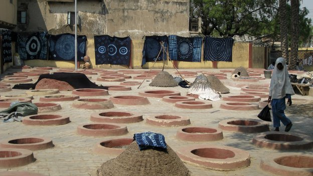 Dying pits in Kano, Nigeria