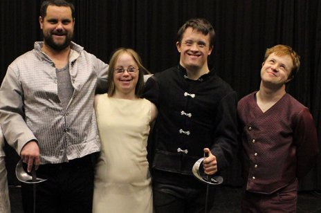 (L-R) cast of Hamlet James, Katy, Tommy, Laurie