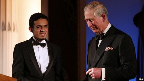 Gamal Albinsaid with Prince Charles