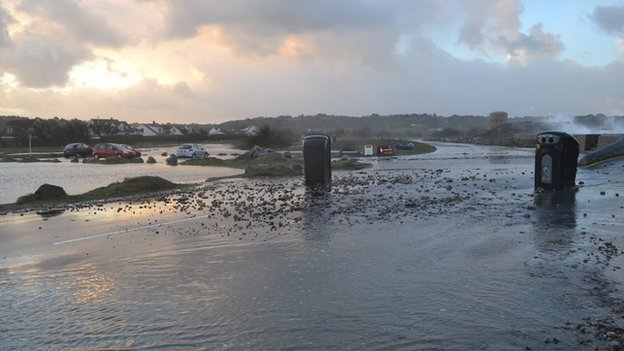 Storm debris, Guernsey, 1 Feb 2014