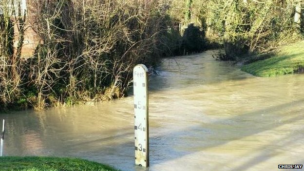 Flooding in Ford End, Clavering, Saffron Walden