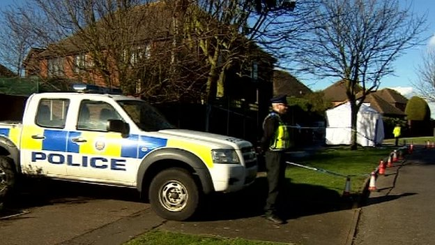 Police cordon in Shoeburyness