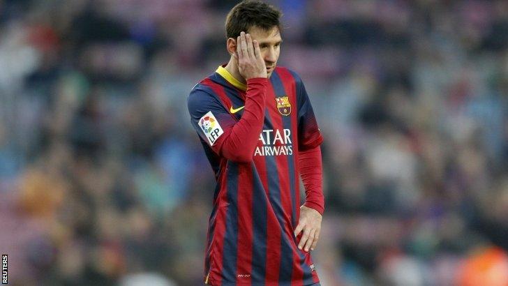 Barcelona midfielder Lionel Messi