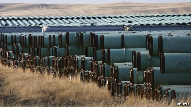 Pipes for Keystone XL in North Dakota, 2013