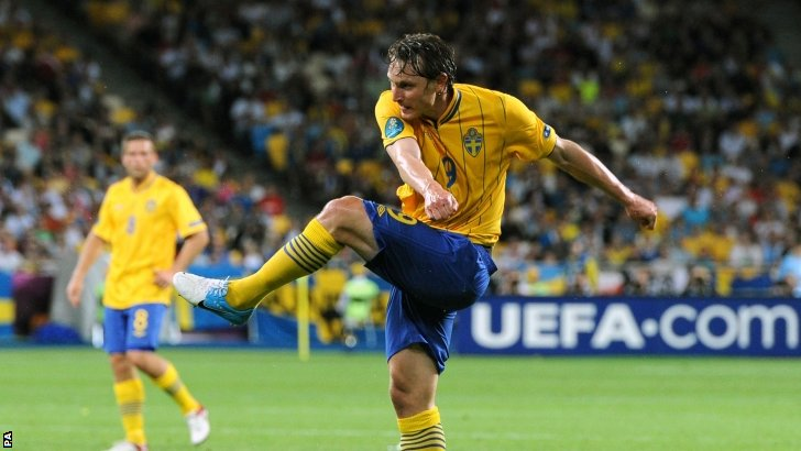 Kim Kallstrom in action for Sweden