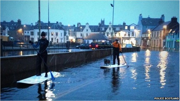 Flooding in Stornoway
