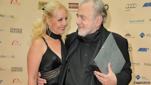 Maximilian Schell and his second wife Iva Mihanovic in 2011