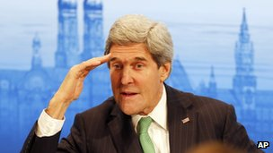 John Kerry at Munich conference, 1 February