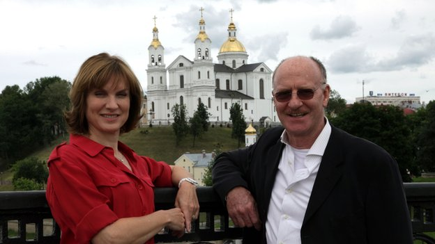 Fiona Bruce and Martin Lang on the search for clues in Belarus