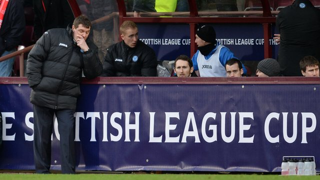 Dejected St Johnstone manager Tommy Wright