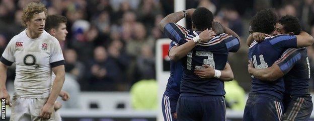 England dejection in Paris as France celebrate