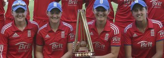 England with the Women's Ashes trophy