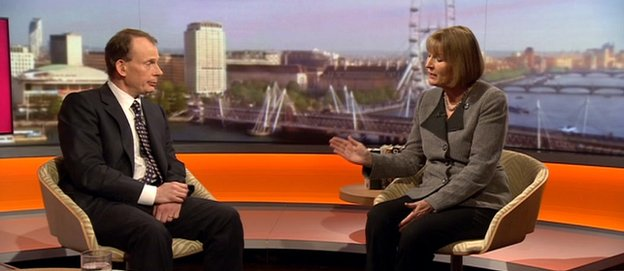 Harriet Harman, right on the Andrew Marr Show