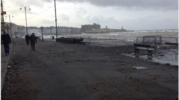 Aberystwyth promenade on 2 February 2014