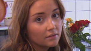 Jacqueline Jossa at her laptop