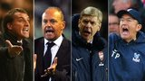 Brendan Rodgers, Pepe Mel, Arsene Wenger and Tony Pulis