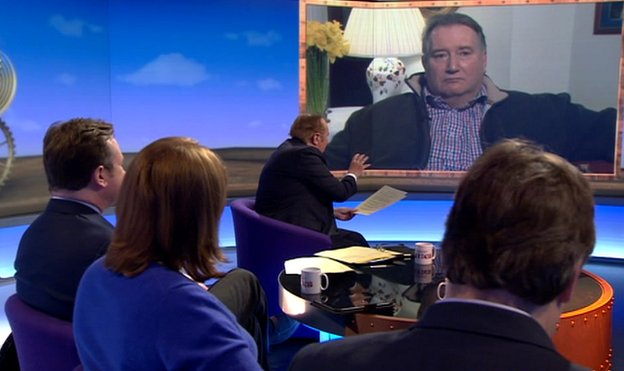 Paul Kenny appears on Sunday Politics