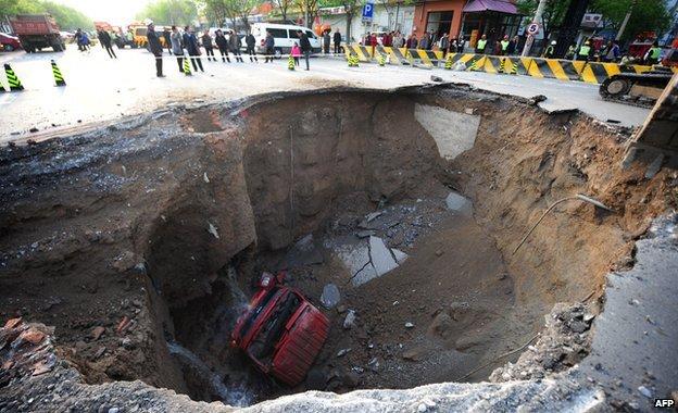 Sinkhole in Beijing