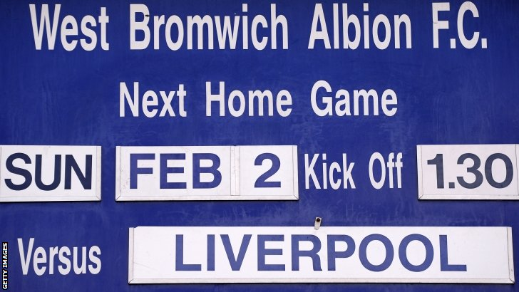 West Brom v Liverpool (1330 GMT)