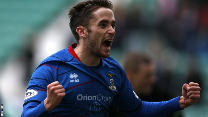 Nick Ross celebrates scoring for Inverness