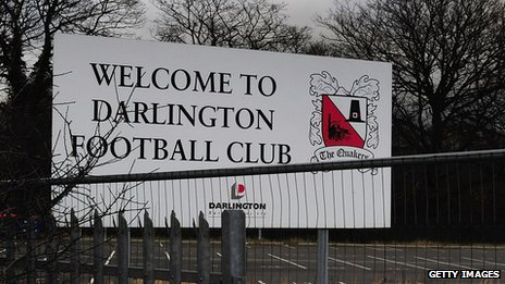 Sign at Darlington Arena 2012