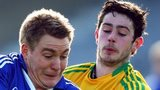 David Conway of Laois in action against Donegal's Frank McGlynn