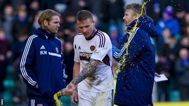 Hearts' Ryan Stevenson