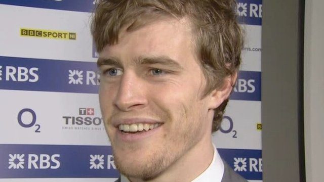 Andrew Trimble scored Ireland's crucial opening try in first-half injury-time
