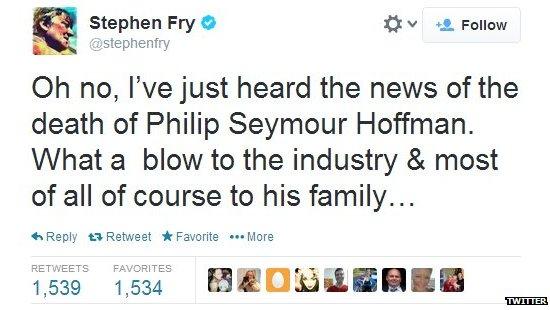 Stephen Fry's tweet