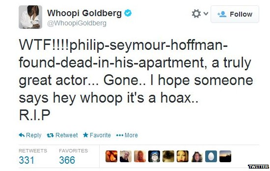 Whoopi Goldberg's tweet