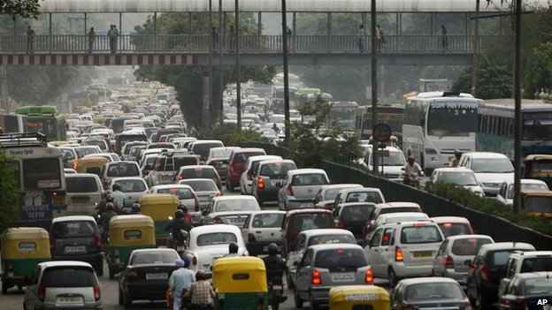 File picture of Delhi traffic