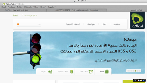 Etisalat website