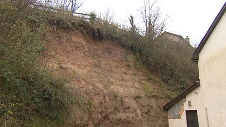 Landslip concerns in Ottery St Mary