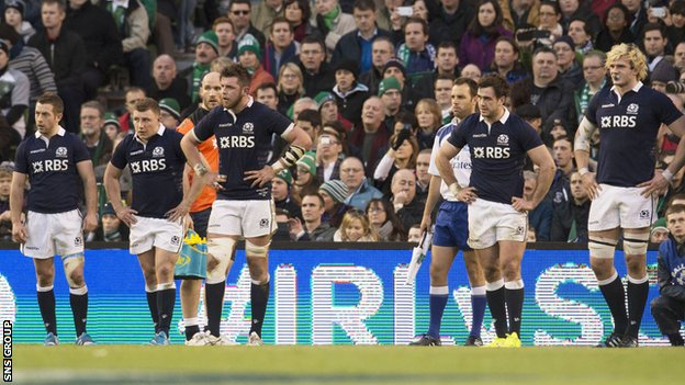 Scotland lost 28-6 in Ireland