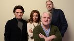 Actors Willem Dafoe, Rachel McAdams, and Philip Seymour Hoffman and director Anton Corbijn pose for a portrait during the 2014 Sundance Film Festival